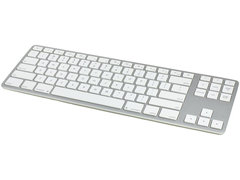 USA Matias Bluetooth Aluminum Tenkeyless Keyboard for Mac Silver