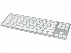 USA Matias Bluetooth Aluminum Tenkeyless Keyboard for Mac Silver
