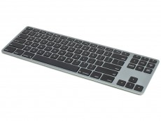 USA Matias Bluetooth Aluminum Tenkeyless Keyboard for Mac Space Grey