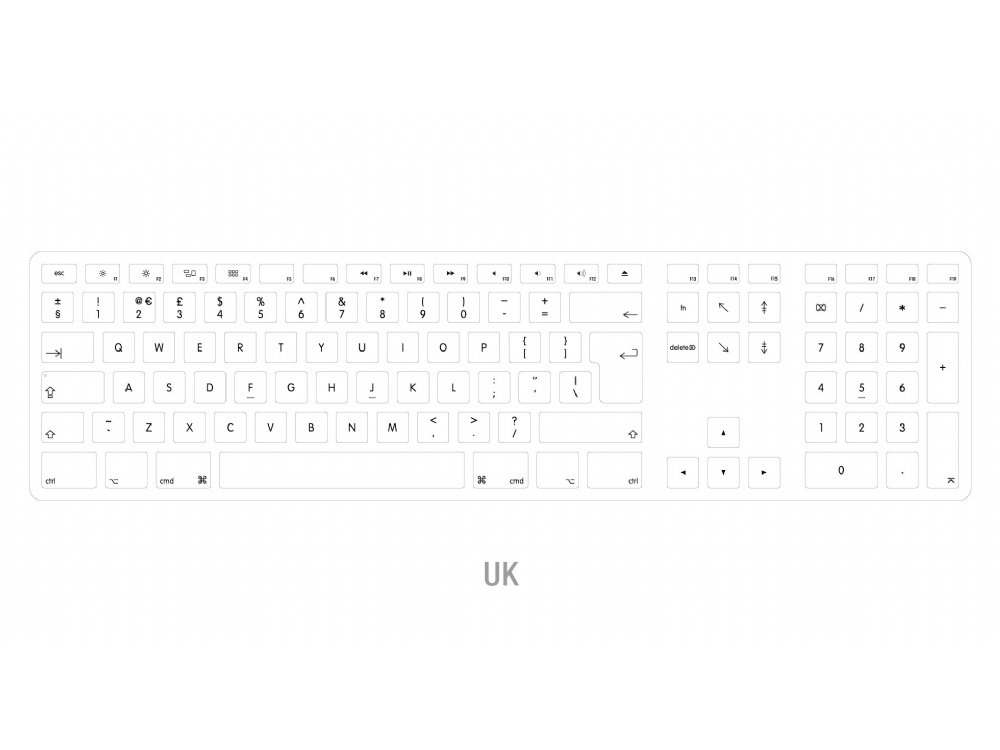 Matias Wired Aluminum Keyboard for Mac UK