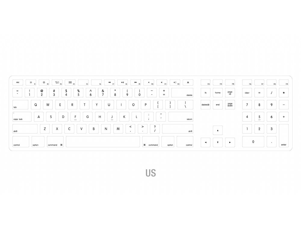 matias wired aluminum keyboard for mac usa fk318s us the keyboard company. Black Bedroom Furniture Sets. Home Design Ideas