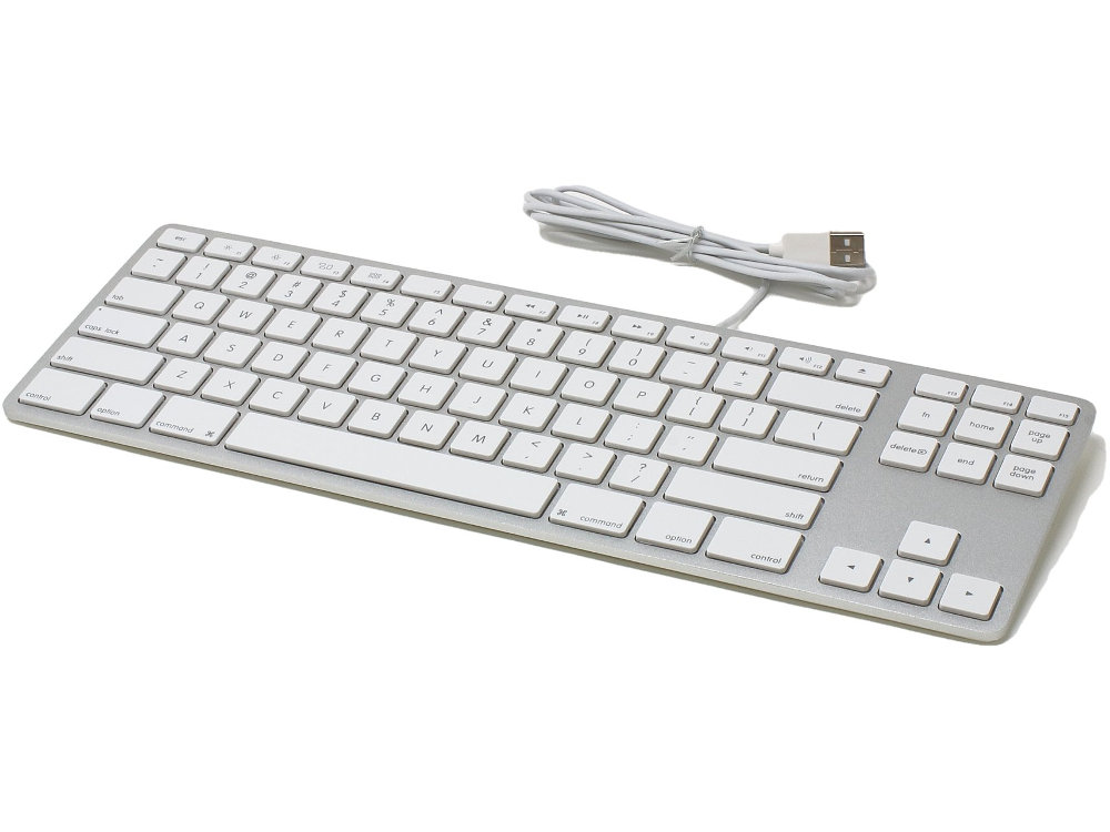 USA Matias Wired Aluminum Tenkeyless Keyboard for Mac Silver