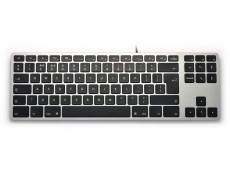 UK Matias Wired Aluminum Tenkeyless RGB Backlit Keyboard for Mac Space Grey