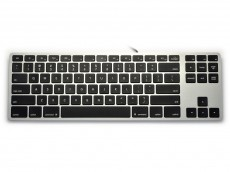 USA Matias Wired Aluminum Tenkeyless RGB Backlit Keyboard for Mac Space Grey