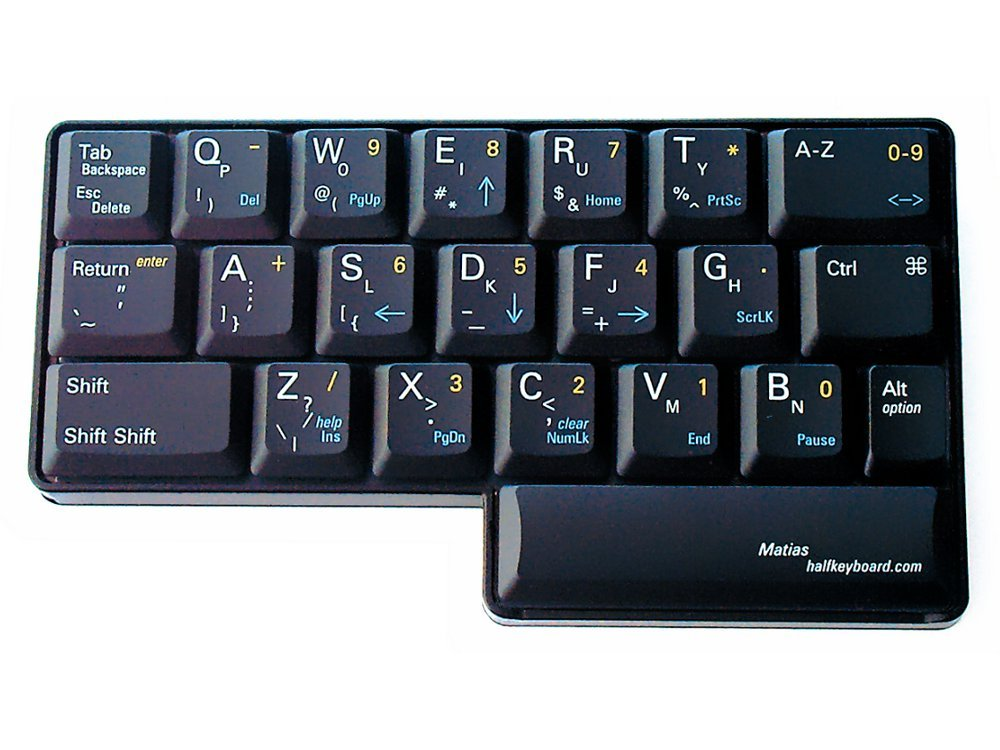 Matias Half Keyboard, Single Handed Keyboard