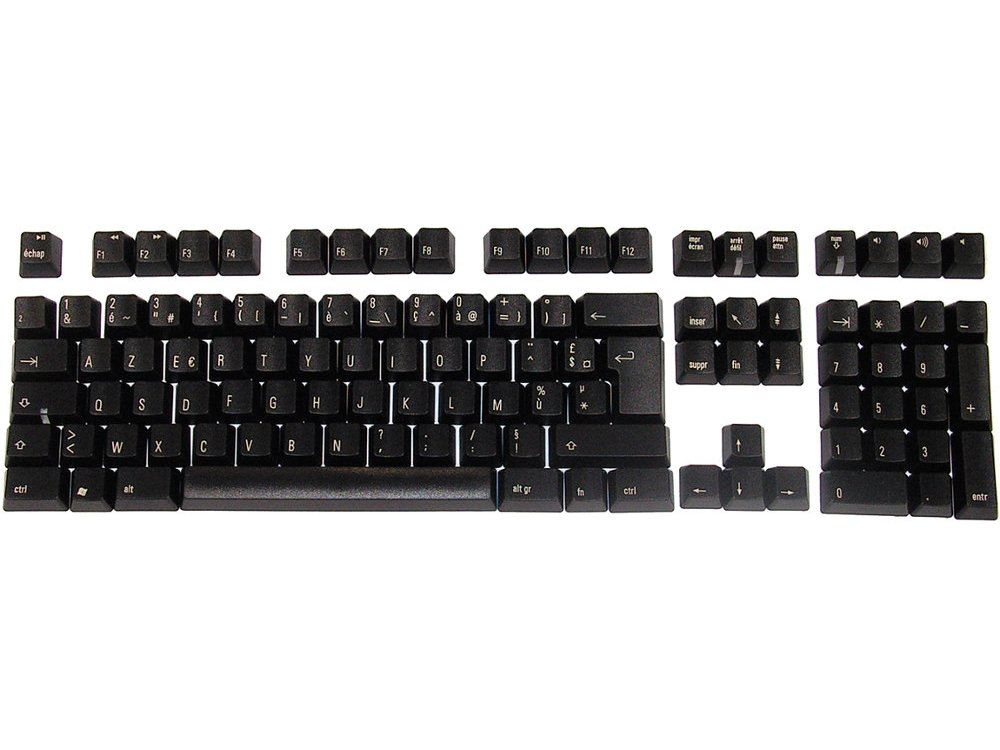 Matias Keyset French Black PC Full for Matias European Keyboards, picture 1