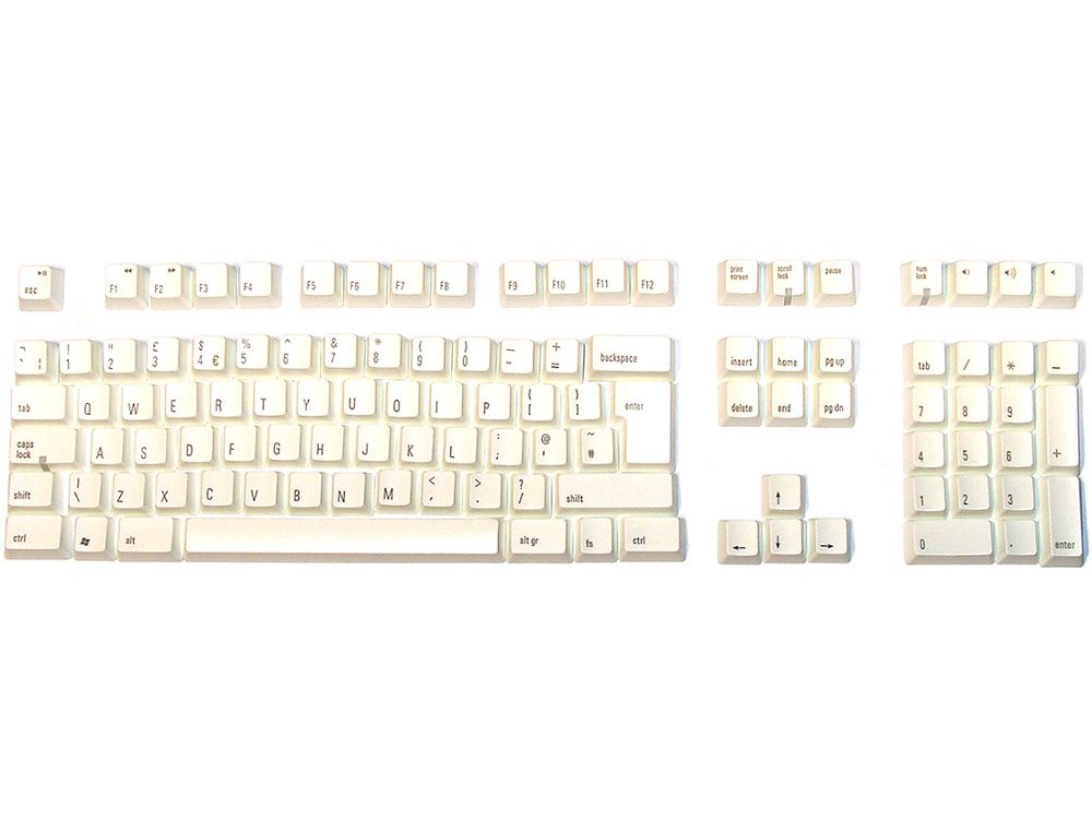 Matias Keyset UK White PC Full for Matias European Keyboards, picture 1