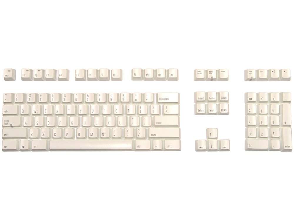 Matias Keyset USA White PC Full for Matias US Keyboards, picture 1