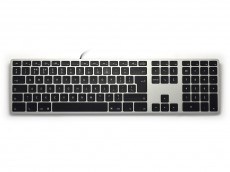UK Matias Wired RGB Backlit Aluminum Keyboard for Mac Space Grey