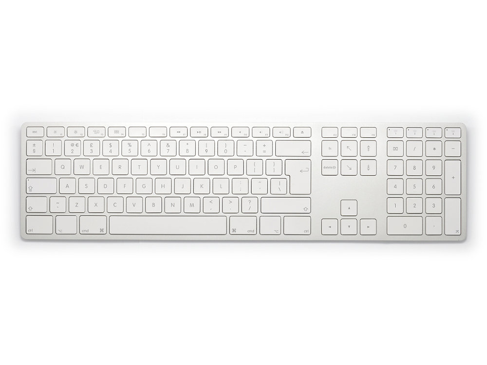 UK Matias Bluetooth Aluminum Keyboard Silver, picture 1