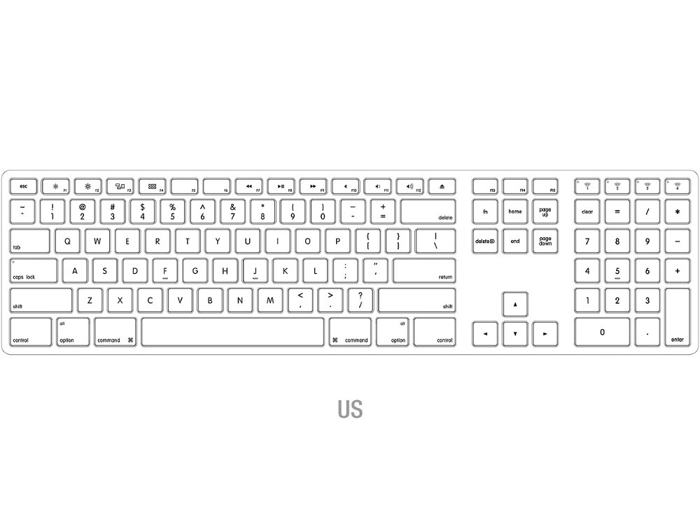 USA Matias Bluetooth Aluminum Keyboard Space Gray, picture 2