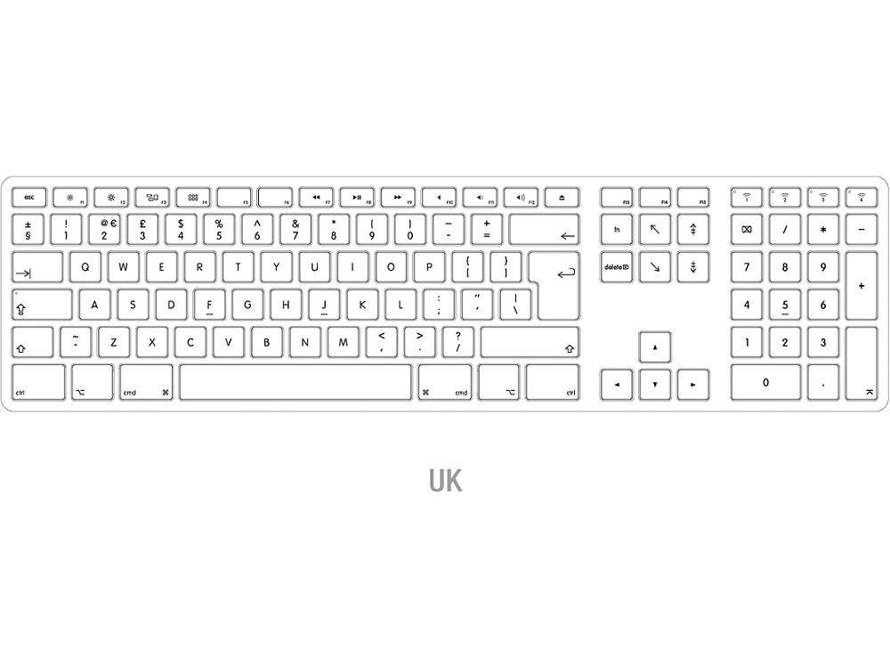 UK Matias Bluetooth Aluminum Keyboard Space Gray