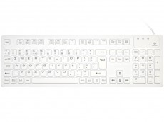 Medical Sealed IP-68 Silicone Keyboard White