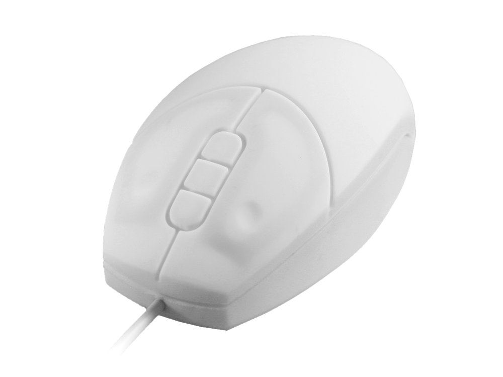 Medical Sealed IP-68 Silicone Mouse White, picture 1