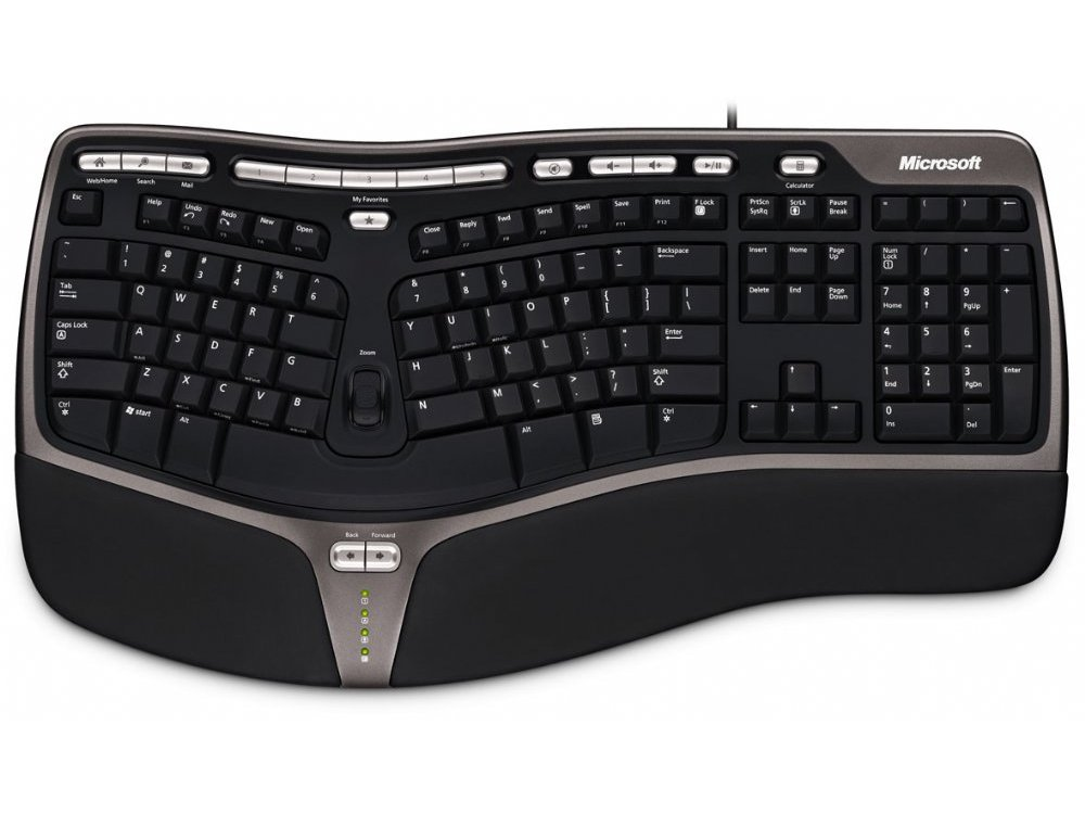 Microsoft Natural Ergonomic Keyboard 4000, black, USB, picture 1