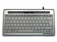 Silver Compact Keyboard with Cut, Copy and Paste Keys