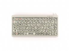 Mini High Visibility Keyboard, Black on Beige