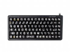 Mini High Visibility Keyboard, White on Black