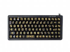 Mini High Visibility Keyboard, Yellow on Black