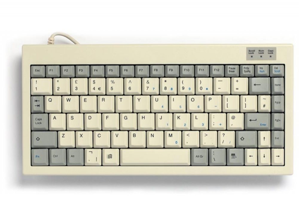 Mini keyboard, Beige, PS/2