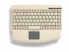 Mini keyboard, Beige, USB with built in Touchpad