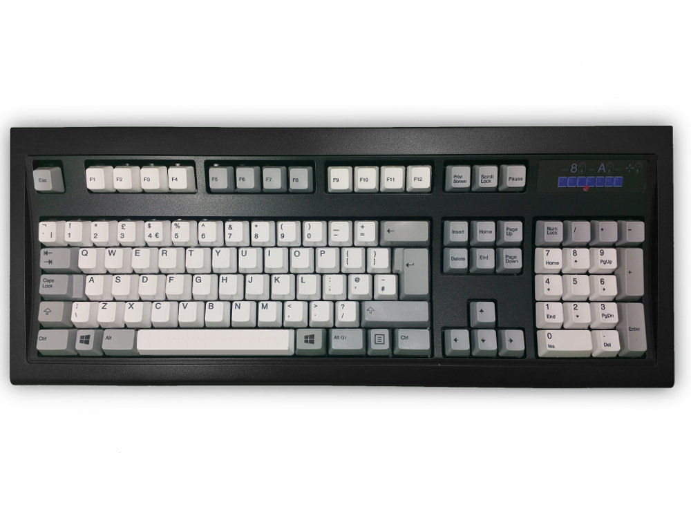 UK New Model M Keyboard Black White/Gray PS/2