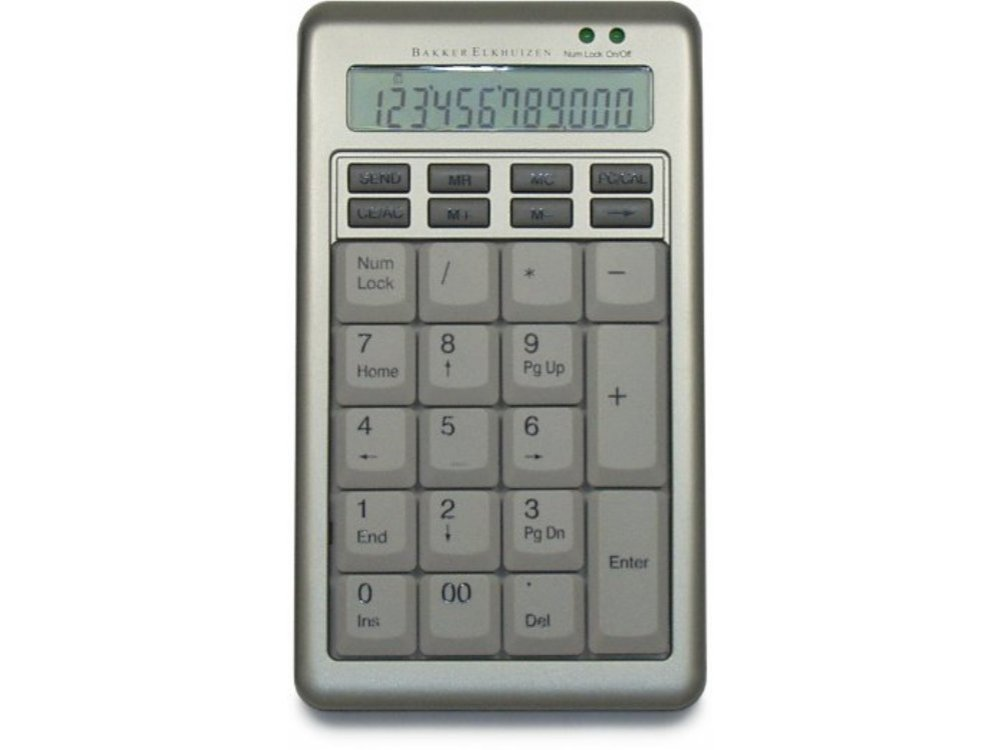 Silver Keypad and Standalone Calculator