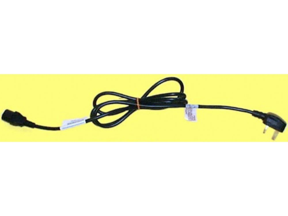 Power cable, IEC to standard UK plug