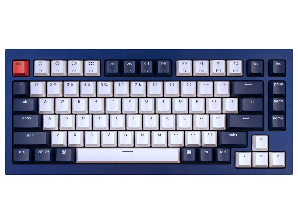 USA Keychron Q1 QMK RGB Tactile Aluminium Mac/PC Navy Blue Custom Keyboard