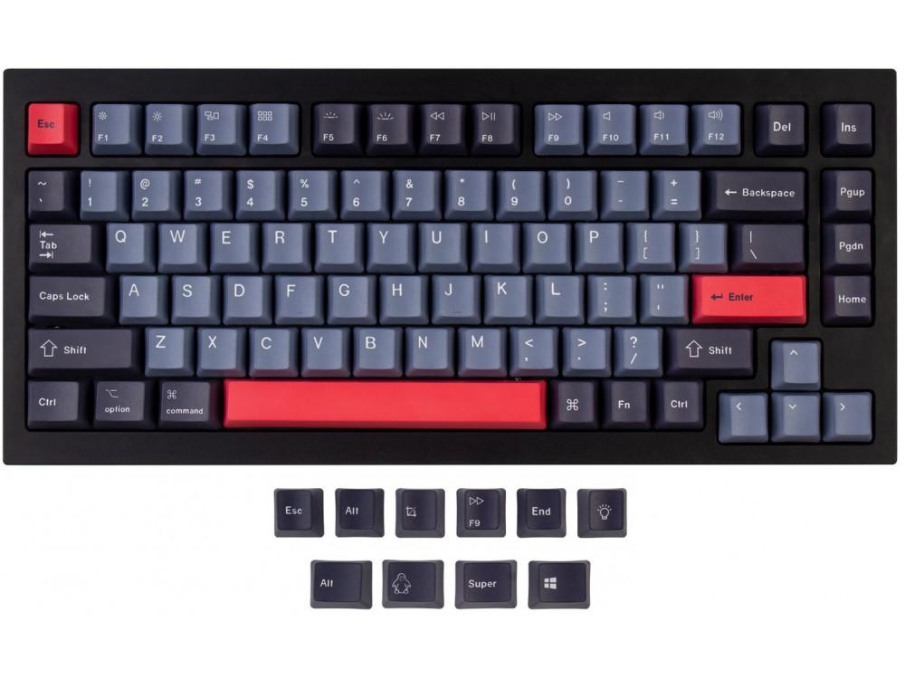 USA Keychron Q1 & K2 OEM Dye-Sub PBT Keycap Set Dolch Red