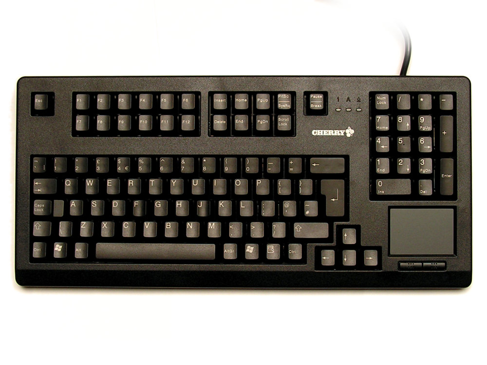 Black Rack Style Keyboard Incorporating a TouchPad, Black, USB