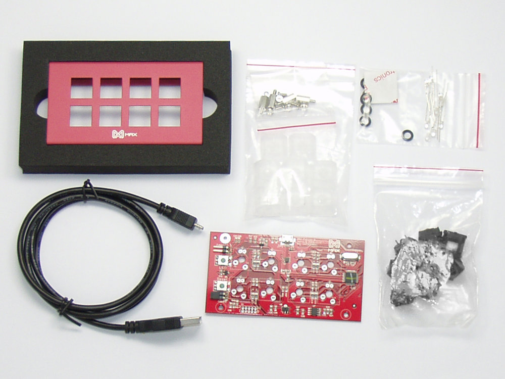 Falcon-8 DIY Red Programmable Mini 8-Key Hard Tactile Pad, picture 1