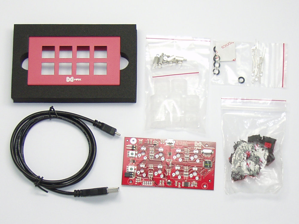 Falcon-8 DIY Red Programmable Mini 8-Key Soft Linear Pad
