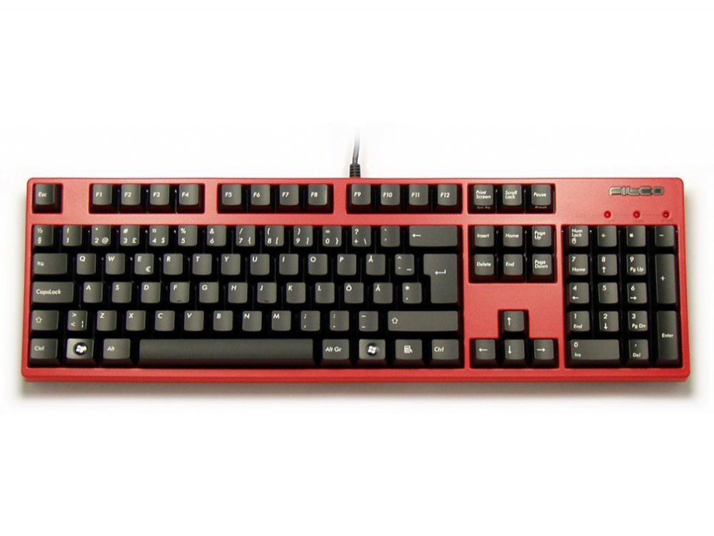 Swedish/Finnish Red Case Filco Majestouch-2, NKR, Soft Linear Action Keyboard