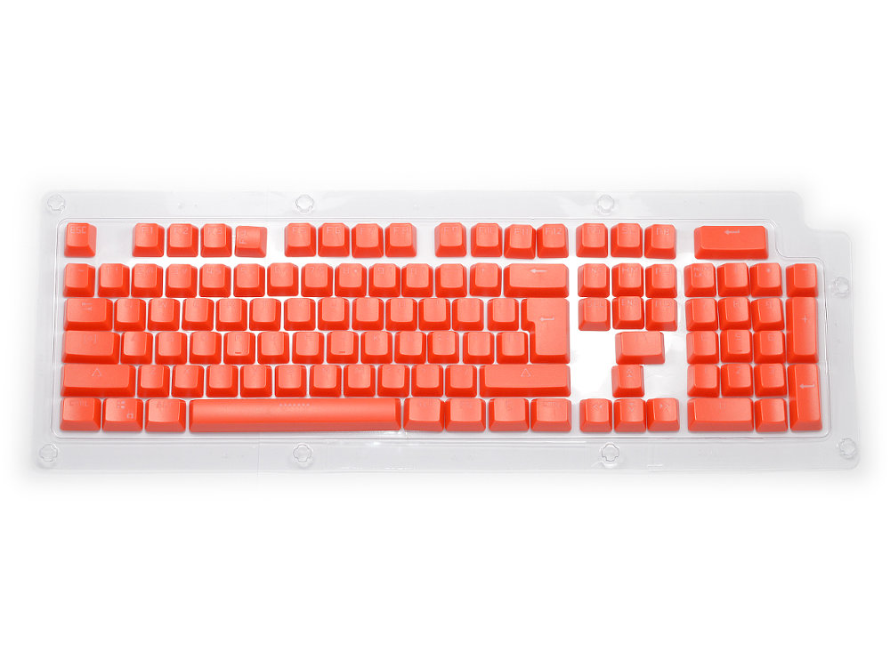 Double Shot Keyset Red USA PC Full for Backlit Cherry MX Switches, picture 1