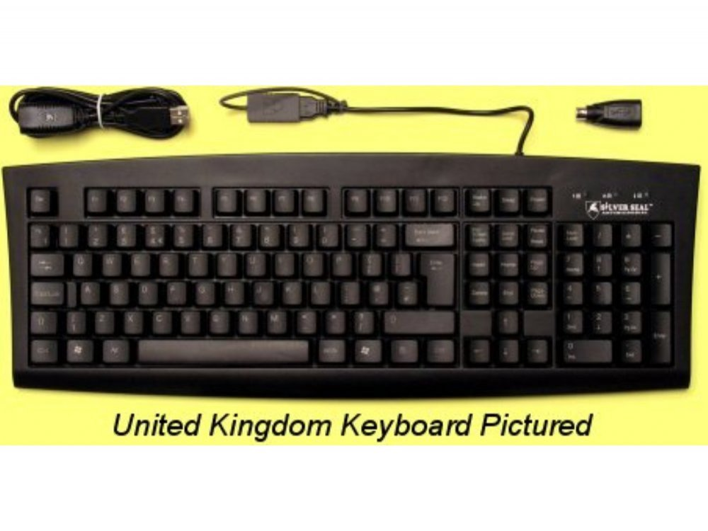 SILVER SEAL Dutch Keyboard, Antimicrobial and Washable