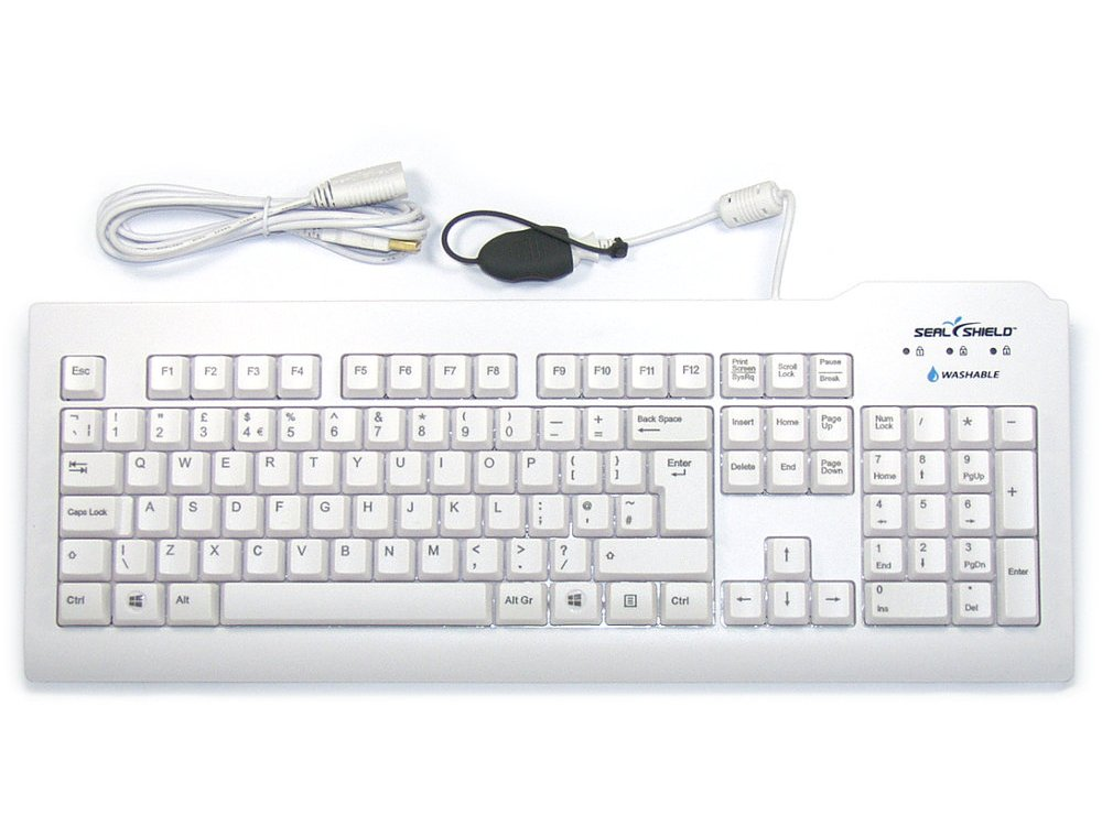 SILVER SEAL Keyboard White - THE Antimicrobial Washable Keyboard, picture 1