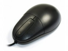 SILVER SEAL Black Mouse  - Waterproof Antimicrobial Optical Mouse