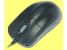 SILVER STORM Black Scroll Mouse - Medical Grade Waterproof Antimicrobial