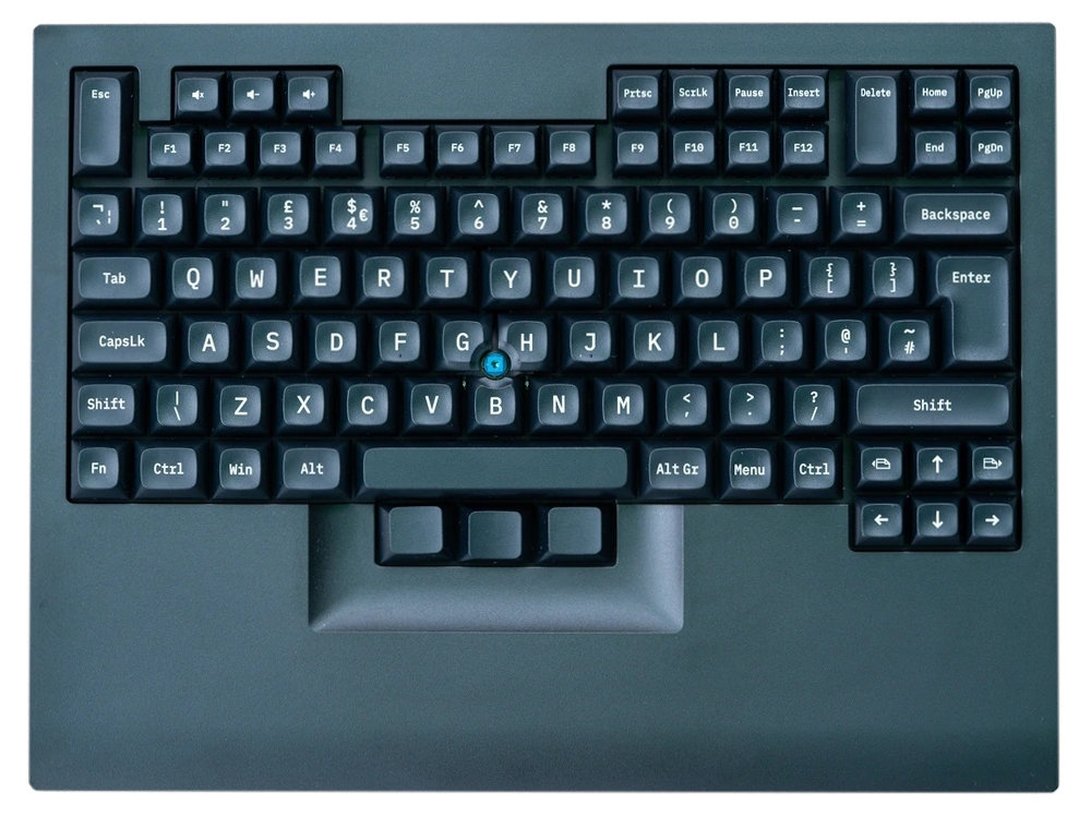Shinobi Programmable Laptop Style MX Blue Click Keyboard with Pointing Device