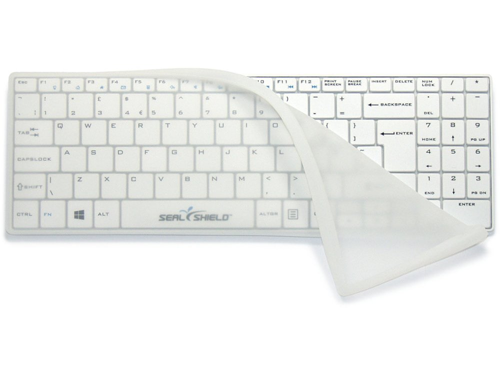 Clean Wipe Medical Grade Mini UK Keyboard Waterproof with Detachable Cover, picture 1