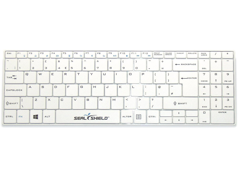 Clean Wipe Medical Grade Mini UK Keyboard Waterproof with Detachable Cover