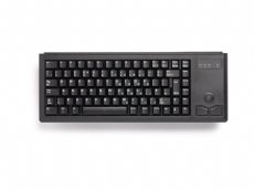 CHERRY Mini keyboard, Black, USB with built in Trackball