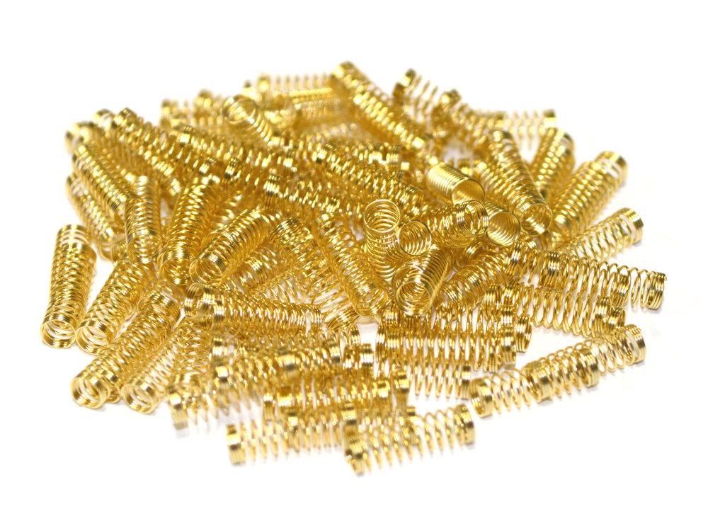 24K Gold Plated Cherry MX Replacement Springs 62cN