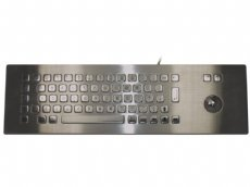 Stainless Steel IP65 Panel mount industrial trackball (over panel) keyboard
