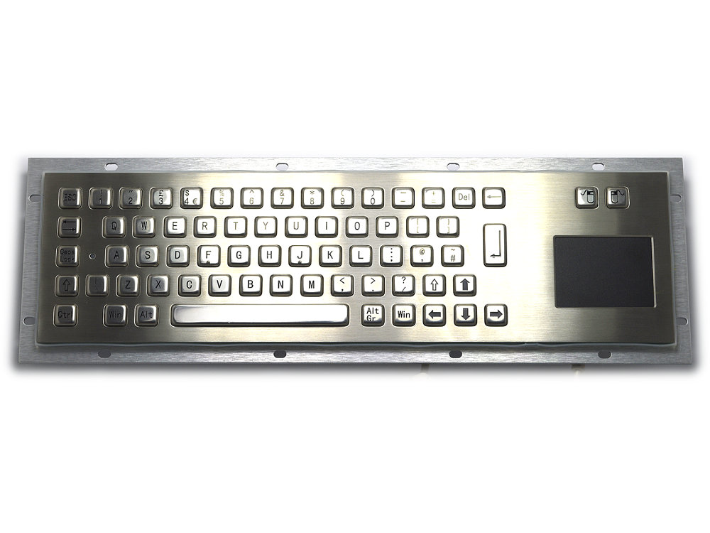 Stainless Steel IP65 Panel Mount Industrial Touchpad Keyboard - Under Panel