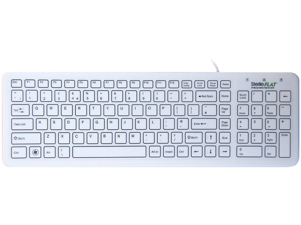 Antibacterial SterileFlat Medical Keyboard, picture 1