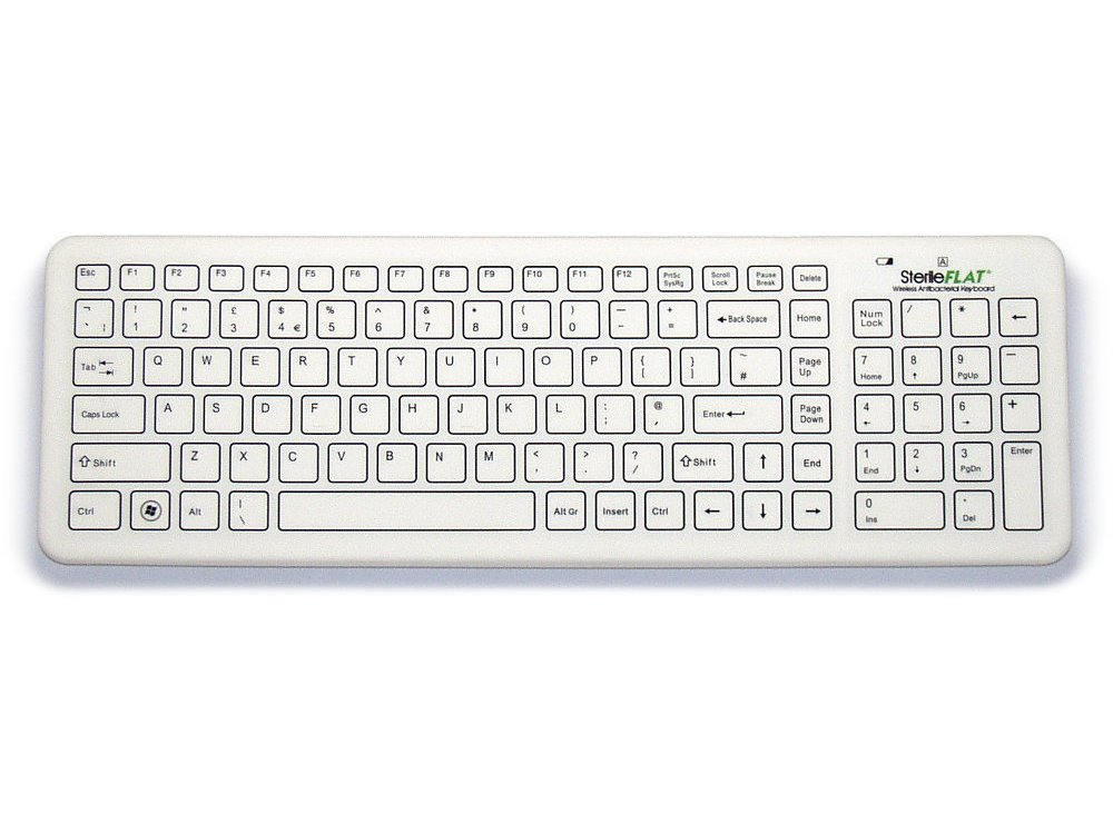 Antibacterial SterileFlat Wireless Medical Keyboard, picture 1