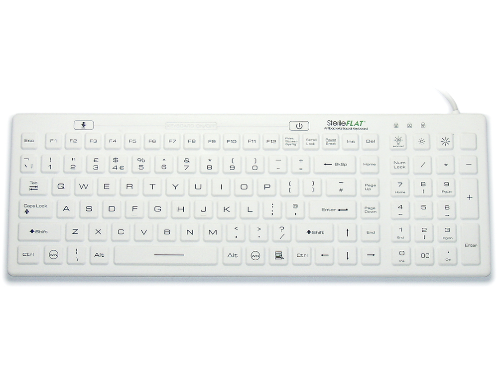 SterileFLAT Antibacterial Backlit Keyboard, picture 1