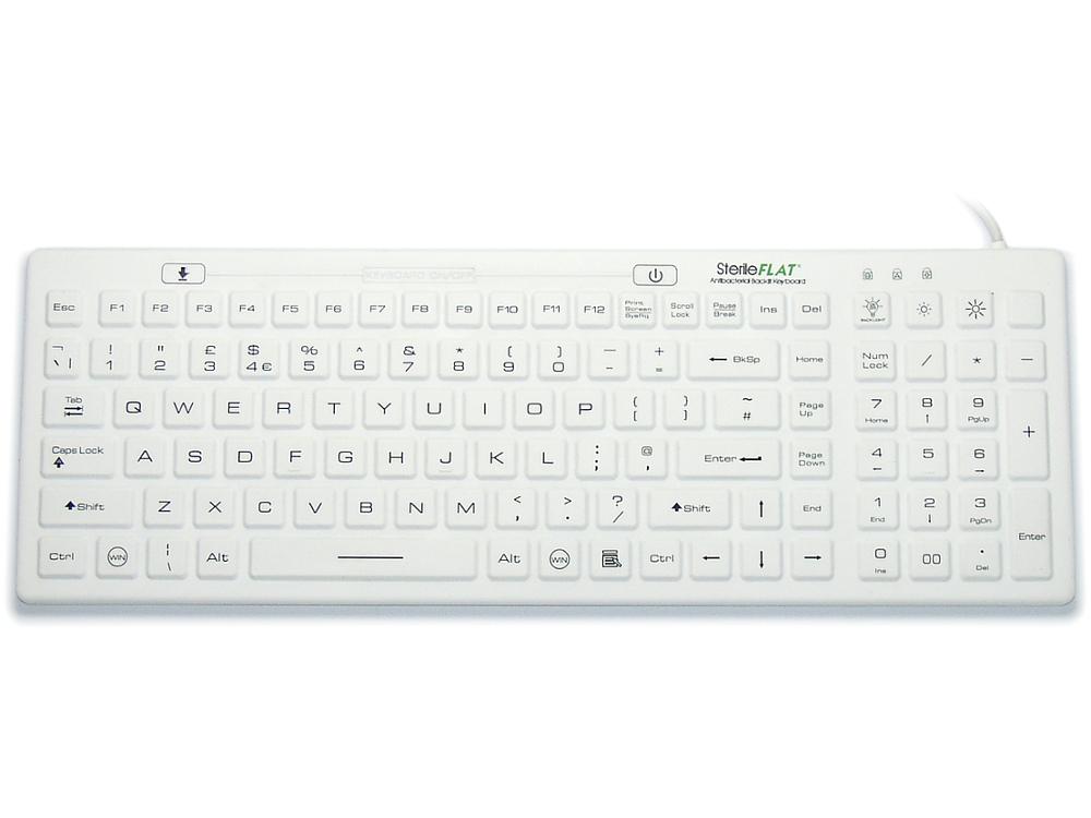 SterileFLAT Antibacterial Backlit Keyboard